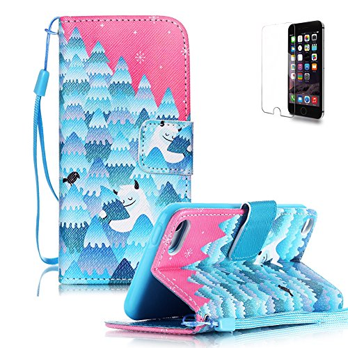 iPod Touch 5/6 Case [with Free Screen Protector],FunPlus Flip Magnetic PU Leather Wallet with Detachable Clip[Lanyard Strap] and [Card Holder] Style Case - Snow Tree (Cool Ipod 5th Generation Cases compare prices)