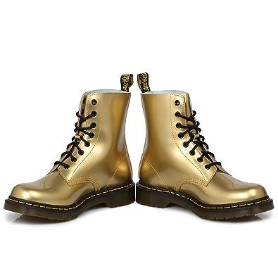 Gold Pelle Donna Discount Martens Stivali Dr Patent Pascal Huge 7aqSnRR5w