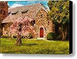 Church - Heaven Created Canvas Print / Canvas Art - Artist Mike Savad
