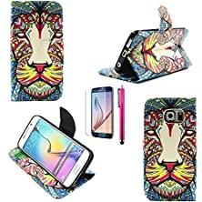 buy G313 Case, Casemart Hot Premium Pu Leather Wallet Cover Case Foldable Full Protective Skin Case Magnetic Closure Adjustable [Stand Feature] For Samsung Galaxy G313 -Lion