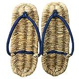 竹皮草履(ぞうり)天然藍染め 男性用