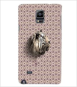 PrintDhaba Tiger Face D-3873 Back Case Cover for SAMSUNG GALAXY NOTE 2 (Multi-Coloured)