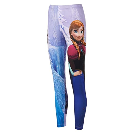 Disney Frozen Elsa Anna Sublimation Leggings Juniors Womens'