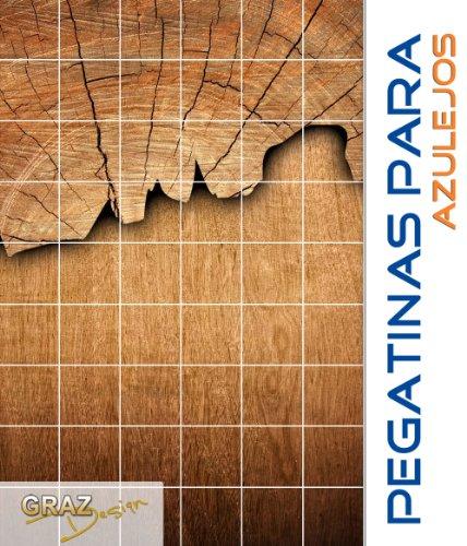 Pegatinas para azulejos puerta de madera rbol patr n - Tamano azulejos cocina ...