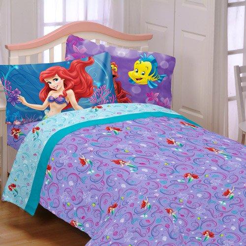Disney Little Mermaid Shimmer And Gleam Full Bedding Sheet Set Ebay