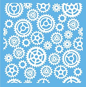 DecoArt Americana Mixed Media Stencil, 12 by 12-Inch, Gears and Cogs