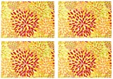 Fiesta Calypso Floral Sunflower Fabric Placemat - Reversible, Set of 4