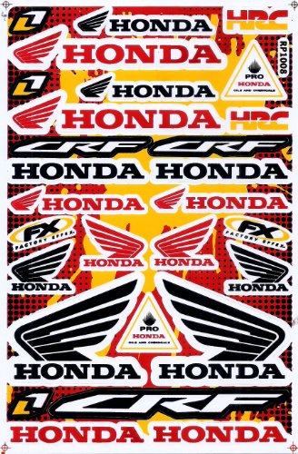 Honda Wing Red Black Graphic Sticker Decal Bike ATV Dirt 1 Sheet ST02. (Honda Wings compare prices)
