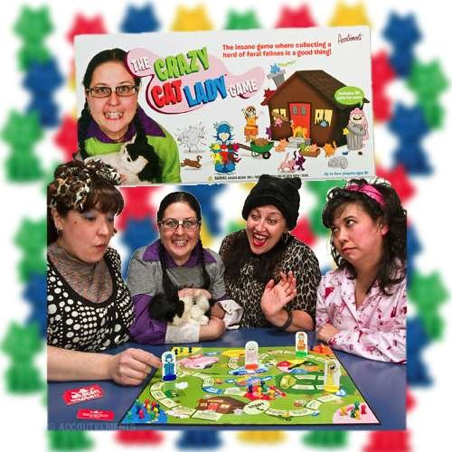 CRAZY cat LADY novelty Board GAME ADULT kid party NEW