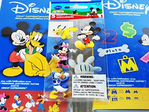 Cricut Disney Cartridge: Bundled Mickey and Friends, Mickey Font and 5 Sandylion Stickers for Your Scrapbooking Creations
