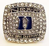 Duke 2015 Championship Ring Replica - Coach K - Size 10 Cool College Basketball Memorabilia NCAA March Madness National Champions Mike Krzyzewski Blue Devils - Shipped from USA