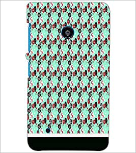 PrintDhaba Pattern D-1824 Back Case Cover for NOKIA LUMIA 530 (Multi-Coloured)
