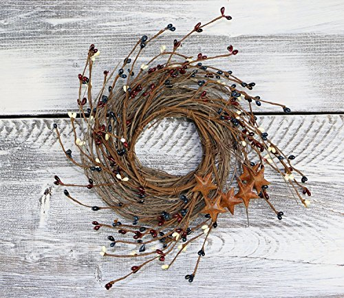Pip Berry, Twig, & Star Wreath, 14