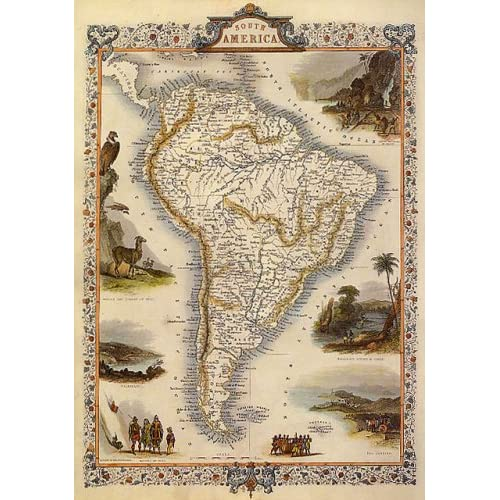 Amazon.com: 1800S BRAZIL AMAZON ARGENTINA PATAGONIA CHILE ...