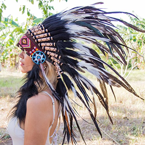 Indian Headdress | Native American Headdress | Mixed Feathers | Novum Crafts