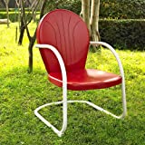 Crosley Furniture Griffith Metal Chair, Red