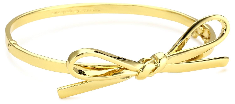 Dainty kate spade gold ribbon bow bracelet