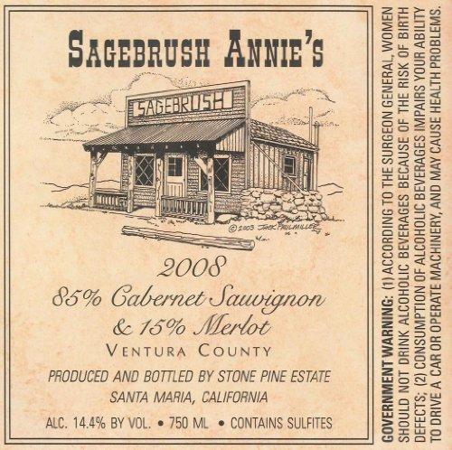 2008 Sagebrush Annie'S Ventura County Cabernet Sauvignon & Merlot Ventura County 750 Ml