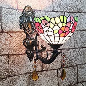 Hhs applique da parete da giardino tiffany in stile for Casa in stile europeo