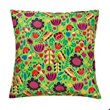 "Graphic Garden Green 16"" Cushion Cover"