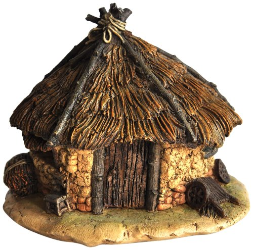 Top Collection Miniature Fairy Garden and Terrarium Thatched Roof Fairy House Statue