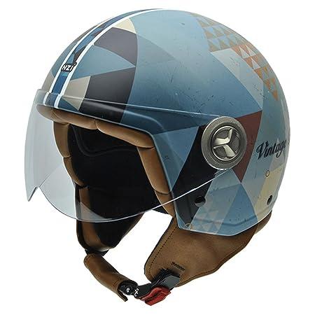 NZI 050267G699 Zeta Graphics Biking, Casque de Moto, Taille XS Multicolore