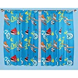 (ディズニー) Disney ディズニー プレーンズ キッズ・子供 ボーイズ ペンシルプリーツ カーテンセット 1ペア(2枚入) 男の子 (168cm x 137cm) (ブルー)