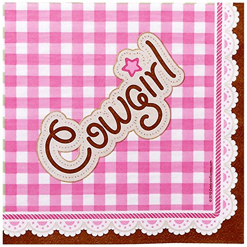 Party Destination 233417 Pink Cowgirl Lunch Napkins