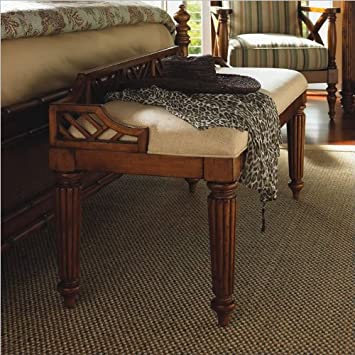 Tommy Bahama Home Island Estate Plantain Bed Bench in Plantation