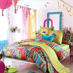 Amazon Com Sisbay Bohemian Exotic Bedding Colorful Modern