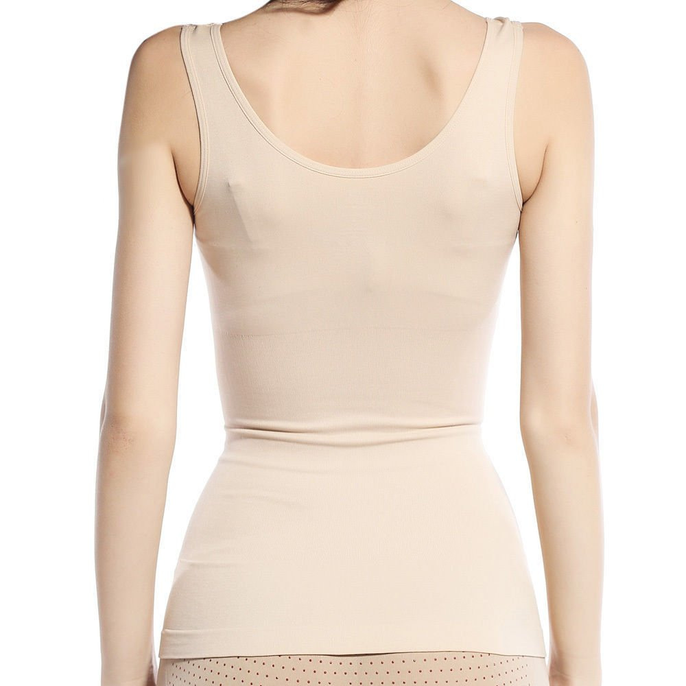 e155290da Insasta Women Slimming Tank Top Tummy Control Seamless Vest Cami Shaper Body  Shape Wear-Size-M