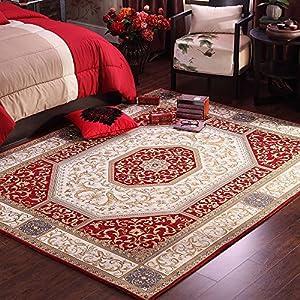 Ustide red low pile floor carpet for wedding for Durable carpet for family room