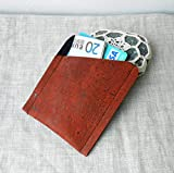 Cork-Leather-Card-Holder-Cork-Card-Wallet-Credit-Card-Wallet-Mens-Wallet-Mens-Anniversary-Gift
