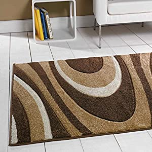 Flair Rugs Orleans Honesty Hand Carved Rug, Brown/Beige, 80 x 150 Cm by Flair Rugs