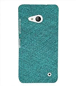 PrintVisa Green Denim Pattern 3D Hard Polycarbonate Designer Back Case Cover for Nokia Lumia 550