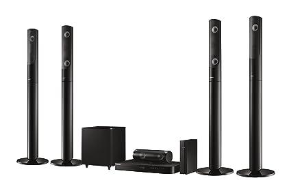 Samsung HT-J5550W 5.1 3D système Blu-ray cinéma maison (1000W, haut-parleurs arrière sans fil, WiFi, Bluetooth, tuner FM) noir