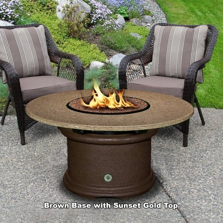California-Outdoor-Concepts-2010-CB-PG9-SUN-54-Del-Mar-Chat-Height-Fire-Pit-Brown-Slate-Grey-Glass-Sunset-Gold-54-in
