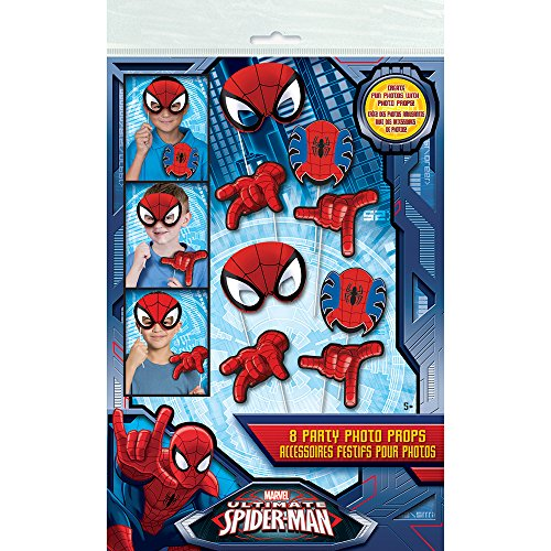 Spiderman Photo Booth Props, 8pc