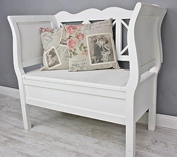 bank k chenbank holzbank holz wei landhaus truhe neu antik truhe truhenbank us60. Black Bedroom Furniture Sets. Home Design Ideas