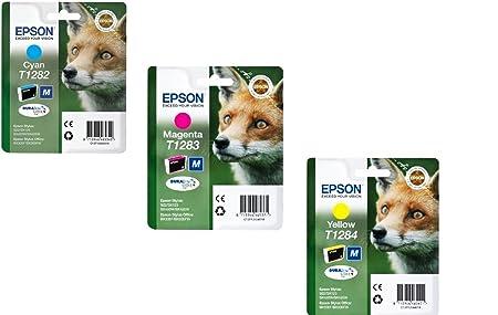 Cartouche de Toner pour Epson T1282/T1283/T1284 Cyan/Magenta/jaune (Lot de 3)
