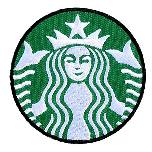 Starbucks embroidered iron on patch sew logo clothes