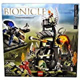 Lego Year 2005 Bionicle Series Set # 8758 - TOWER OF TOA With Kahgarak With Blunt Shooter To Knock O