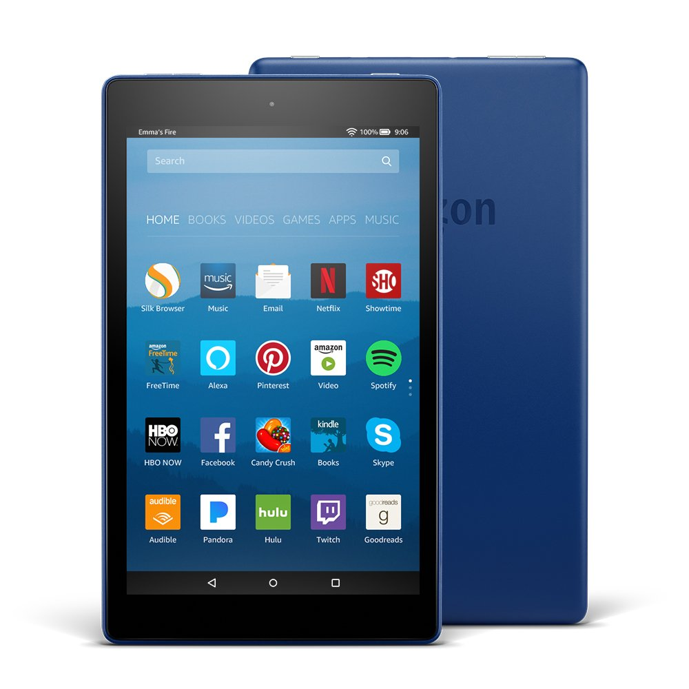 Marine Blue HD Fire 8 Alexa Tablet