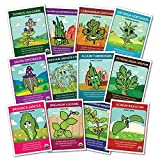100% CERTIFIED ORGANIC NON-GMO Culinary Herb Set - 12 popular varieties of Easy-to Grow Organic Seeds - from a REAL USDA Certified Seed Company - We are passionate about helping and teaching people how to grow safe, healthy food!