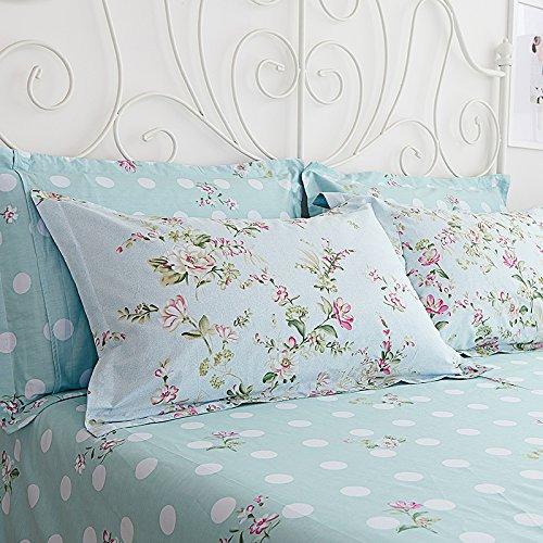 Sisbay Spring Rural Bedding Set Vintage Cotton,New Design Elegant Floral Duvet Cover,Girls Wedding Bed Sheet Full,4pcs 3