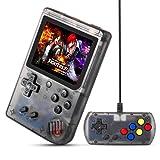 MEEPHONG Handheld Game Console, TV Output Retro FC Plus Extra Joystick NES Classic Game Console Built-in 168 Handheld Video Games (Black Transparent) (Color: Black)