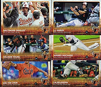 Baltimore Orioles 2015 Topps MLB Baseball Regular Issue Complete 23 Card Team Set with Manny Machado, Chris Davis Plus