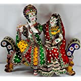 Paras Magic Marble Radha Krishna RK5 Idol (Standard,Multicolor)