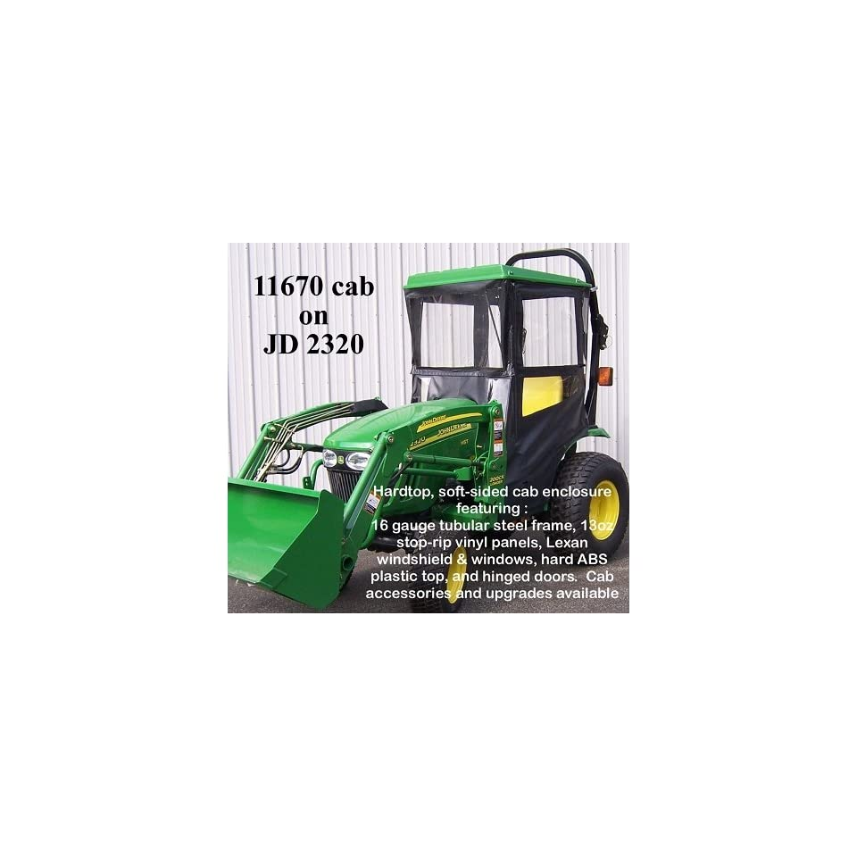 John Deere Tractor Hardtop Cab Enclosure for 2320 Compact on PopScreen