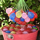 dizauL® Crazy Water Balloons - 148 Pre-tied Water Balloons (4x37) - Self Sealing Balloons for Kids in Summer